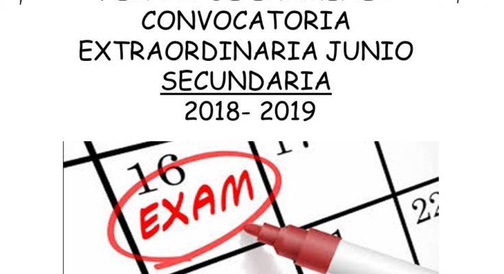 Calendario De Examenes.Calendario De Examenes Convocatoria Extraordinaria De Junio 2018